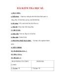 Giáo án Địa lý lớp 6 : Tên bài dạy : BÀI KIỂM TRA HỌC KÌ.