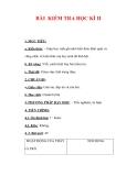 Giáo án Địa lý lớp 6 : Tên bài dạy : BÀI KIỂM TRA HỌC KÌ II