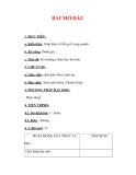 Giáo án Địa lý lớp 6 : Tên bài dạy : BÀI MỞ ĐẦU