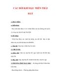 Giáo án Địa lý lớp 6 : Tên bài dạy : CÁC ĐỚI KHÍ HẬU TRÊN TRÁI ĐẤT