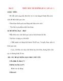Giáo án lớp 7 môn Công Nghệ: Bài 12 THÊU MÓC XÍCH HÌNH QUẢ CAM (tiết 1)