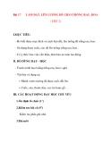 Giáo án lớp 7 môn Công Nghệ: Bài 17 LÀM ĐẤT, LÊN LUỐNG ĐỂ GIEO TRỒNG RAU, HOA ( TIẾT 2)