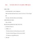 Giáo án lớp 7 môn Công Nghệ: Bài 1 VẬT LIỆU, DỤNG CỤ CẮT, KHÂU, THÊU (tiết 2)
