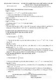 Đề ôn thi đại học môn toán - Đề số 1