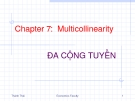 Chapter 7:  Multicollinearity ĐA CỘNG TUYẾN