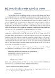 Tập IV - Để Có Khởi Đầu Thuận Lợi Về Tài Chính