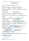 Bài tập điều chế kim loại