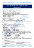BÀI 22. PHƢƠNG PHÁP TÁCH CÁC HỢP CHẤT HỮU CƠ BÀI TẬP TỰ LUYỆN