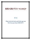 Đề tài: phân tích tình hình xuất khẩu gạo của Việt Nam giai đoạn 2008-2011