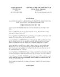 Quyết định số 19/2011/QĐ-UBND
