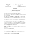 Quyết định số 23/2011/QĐ-UBND