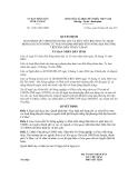 Quyết định số 11/2011/QĐ-UBND