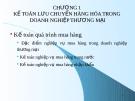 Bài giảng kế toán tài chính 2 ( kế toán thương mai).
