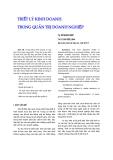 """Báo cáo khoa học: """"triết lý kinh doanh trong quản trị doanh nghiệp"""""""