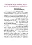 """Báo cáo khoa học: """"về """"kết hợp đào tạo với nghiên cứu khoa học giữa các trường đại học và các viện nghiên cứu"""""""""""