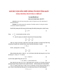 """Báo cáo khoa học: """"Giải bài toán dẫn nhiệt không ổn định tổng quát bằng ph-ơng pháp phân ly biến số"""""""