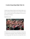 Carnival tưng bừng khắp Châu Âu