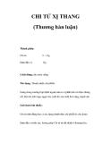CHI TỬ XỊ THANG (Thương hàn luận)