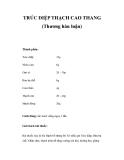TRÚC DIỆP THẠCH CAO THANG (Thương hàn luận)