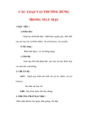 Giáo án Công nghệ lớp 6 : Tên bài dạy : CÁC LOẠI VẢI THƯỜNG DÙNG TRONG MAY MẶC