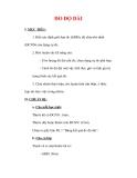 Giáo án Vật lý lớp 6 : Tên bài dạy : ĐO ĐỘ DÀI
