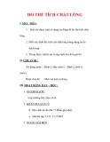 Giáo án Vật lý lớp 6 : Tên bài dạy : ĐO THỂ TÍCH CHẤT LỎNG