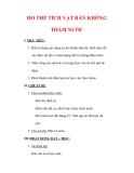 Giáo án Vật lý lớp 6 : Tên bài dạy : ĐO THỂ TÍCH VẬT RẮN KHÔNG THẤM NƯỚC
