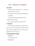 Giáo án Vật lý lớp 6 : Tên bài dạy : LỰC – HAI LỰC CÂN BẰNG