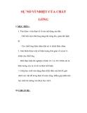 Giáo án Vật lý lớp 6 : Tên bài dạy : SỰ NỞ VÌ NHIỆT CỦA CHẤT LỎNG