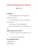 Giáo án Công nghệ lớp 6 : Tên bài dạy : TRANG TRÍ NHÀ Ở BẰNG MỘT SỐ ĐỒ VẬT