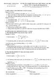 Đề ôn thi đại học môn toán - Đề số 9