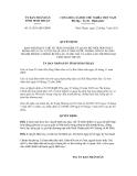 Quyết định số 31/2011/QĐ-UBND