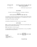 Quyết định số 1379/QĐ-CTN