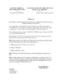Thông tư số  58/2011/TT-BNNPTNT