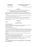 Thông tư số 30/2011/TT-BTNMT
