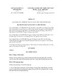 Thông tư số 33/2011/TT-BTNMT