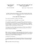 Quyết định số  41/2011/QĐ-UBND