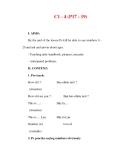 Giáo án Anh văn lớp 6 : Tên bài dạy : C1 - 4 (P17 - 19)