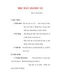 Giáo án Âm nhạc lớp 6 : Tên bài dạy : HỌC HÁT: BÀI ĐI CẤY