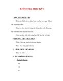 Giáo án Giáo dục công dân lớp 6 : Tên bài dạy : KIỂM TRA HỌC KỲ I