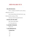 Giáo án Giáo dục công dân lớp 6 : Tên bài dạy : KIỂM TRA HỌC KỲ II