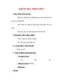 Giáo án Giáo dục công dân lớp 6 : Tên bài dạy : KIỂM TRA MỘT TIẾT