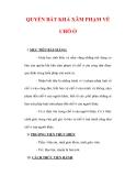 Giáo án Giáo dục công dân lớp 6 : Tên bài dạy : QUYỀN BẤT KHẢ XÂM PHẠM VỀ CHỖ Ở