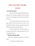 Giáo án Giáo dục công dân lớp 6 : Tên bài dạy : SỐNG CHAN HOÀ VỚI MỌI NGƯỜI