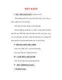 Giáo án Giáo dục công dân lớp 6 : Tên bài dạy : TIẾT KIỆM