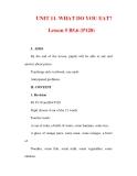 Giáo án Anh văn lớp 6 : Tên bài dạy : UNIT 11. WHAT DO YOU EAT? Lesson 5 B5,6 (P120)