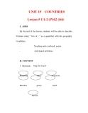 Giáo án Anh văn lớp 6 : Tên bài dạy : UNIT 15 COUNTRIES Lesson 5 C1-2 (P162-164)