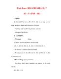 Giáo án Anh văn lớp 6 : Tên bài dạy : Unit four: BIG OR SMALL ? A3 - 5 (P45 - 46)