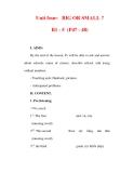 Giáo án Anh văn lớp 6 : Tên bài dạy : Unit four: BIG OR SMALL ? B1 - 5 (P47 - 48)