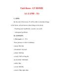 Giáo án Anh văn lớp 6 : Tên bài dạy : Unit three: AT HOME A1-2 (P30 - 31)